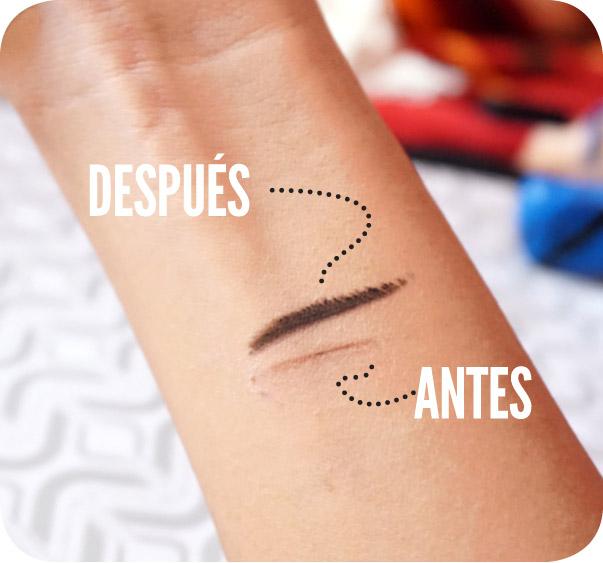 Reparar el maquillaje seco ANTES Y DESPUES LINEA
