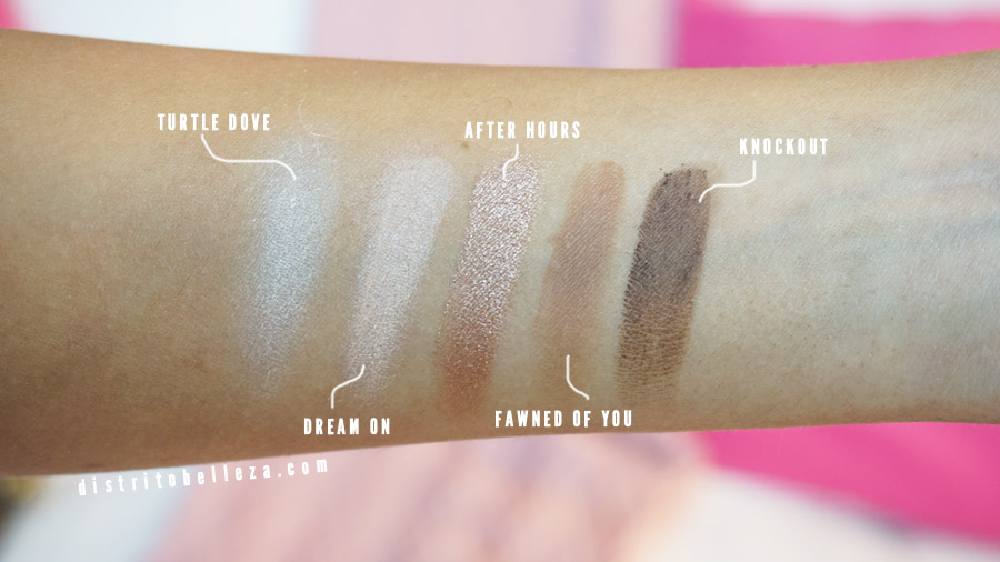 Sombras Too Faced turtle dove, dream on, after hours, fawned of you, knockout