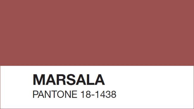 Color del año 2015 Marsala