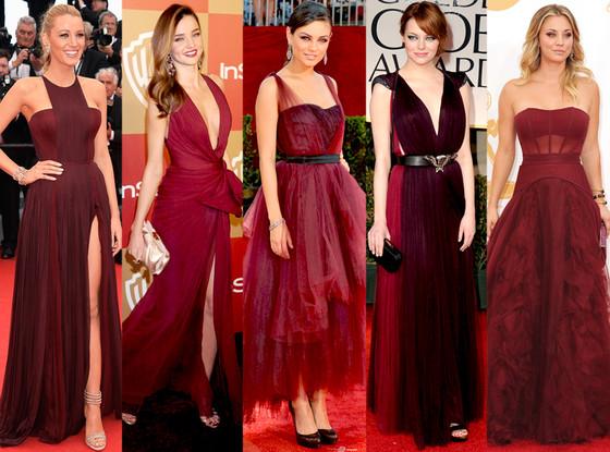 Color del año 2015 Marsala ropa