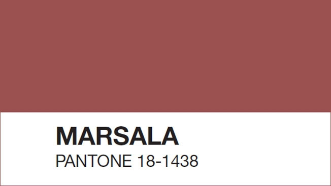 Color del año 2015 Marsala
