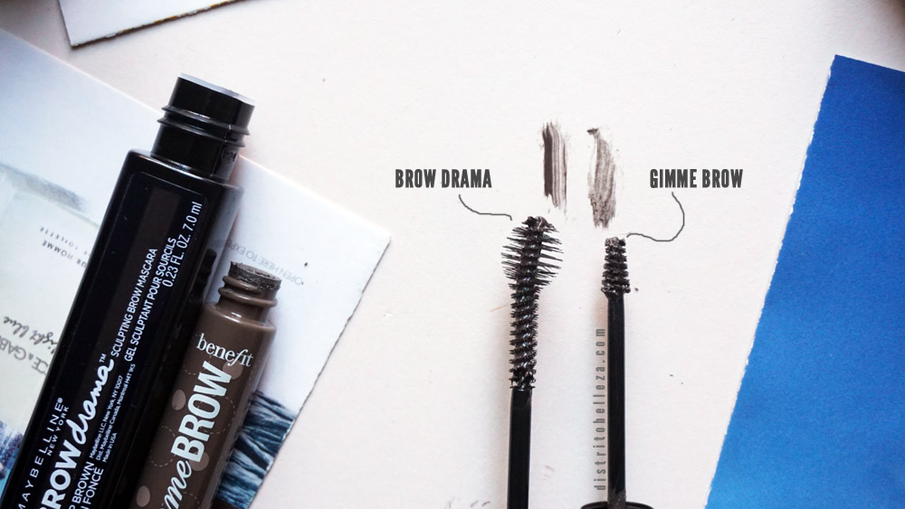 Gel para cejas Benefit gimme brow vs Maybelline