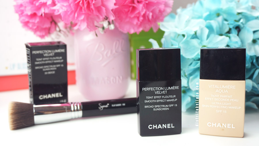 Maquillaje Chanel vitalumiere aqua y perfection lumiere México