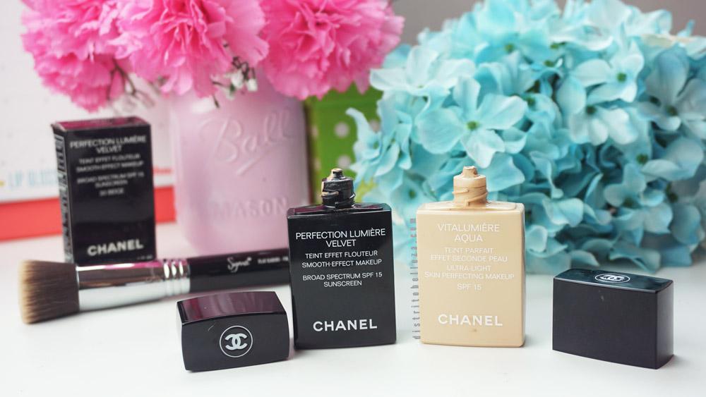 Maquillaje Chanel vitalumiere aqua y perfection lumiere empaque