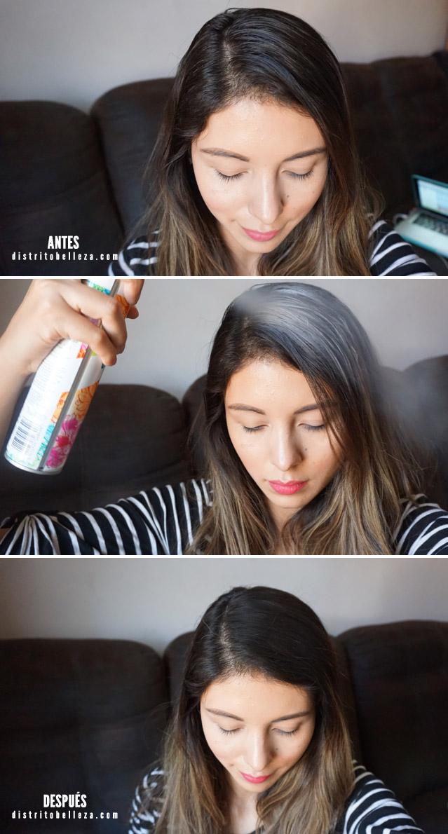 Batiste shampoo en seco antes y despues