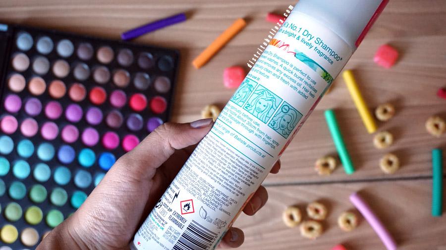 Batiste shampoo en seco instrucciones