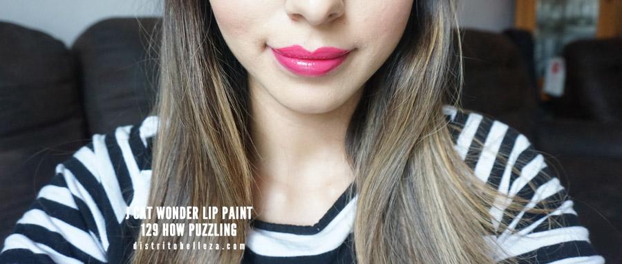 J cat Wonder Lip Paint 129 how puzzling