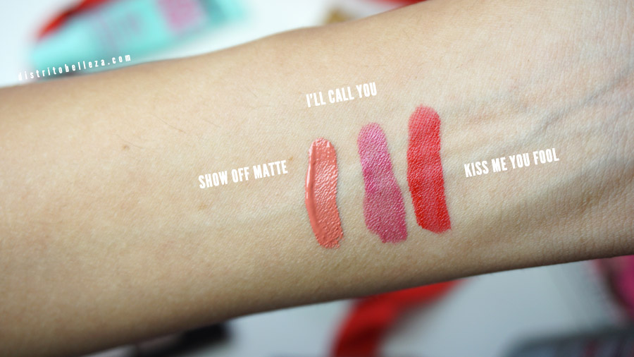 Labiales Rimmel london provocalips swatches
