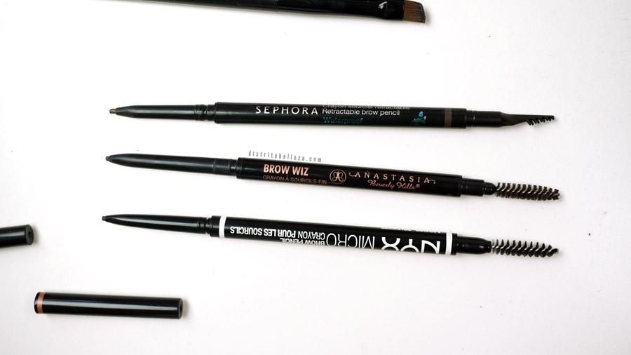 Lápices para cejas Anastasia Brow wiz duplicado vs nyx micro brow pencil