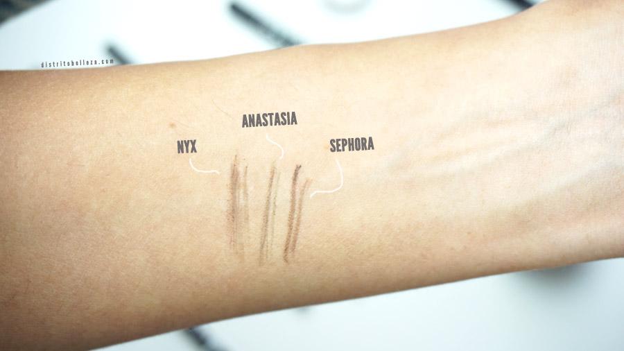 Lápices para cejas Anastasia Brow wiz duplicado swatches