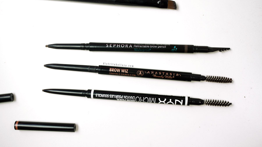 Lápices para cejas Anastasia Brow wiz duplicado vs nyx micro brow pencil