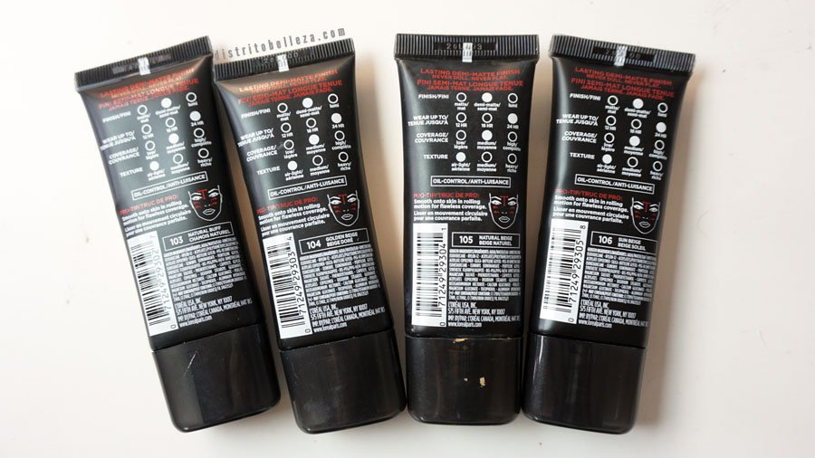 Base L'oreal infallible pro matte empaque