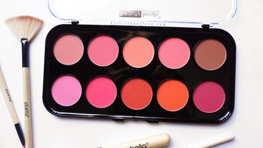 Paleta de rubores mate beauty treats colores