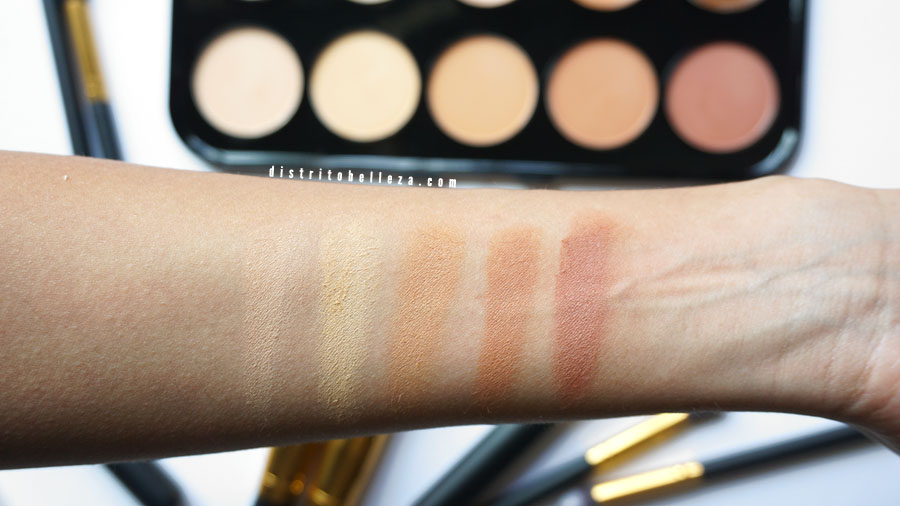 Sculpting palette Beauty Treats swatches polvo