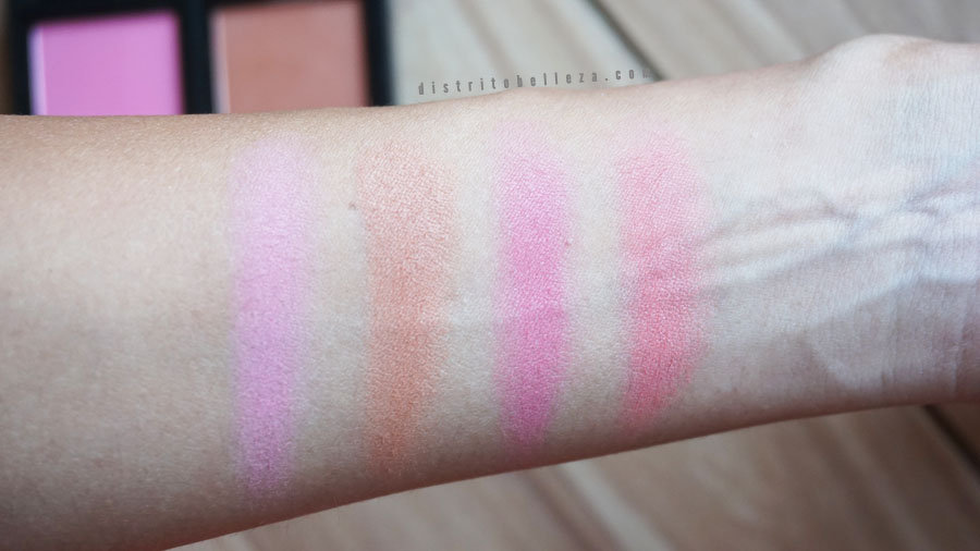 Paleta de rubores elf swatches