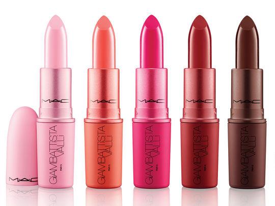Colección Giambattista valli mac lipstick