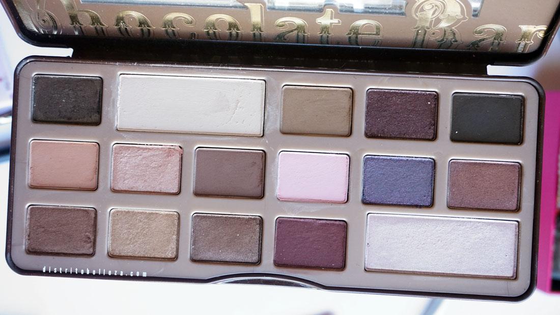 Paleta too faced chocolate bar colores