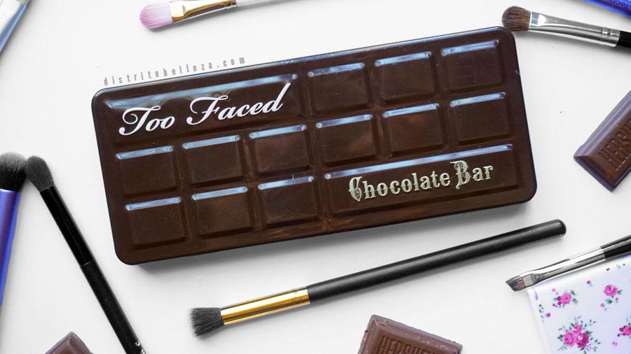Paleta too faced chocolate bar empaque
