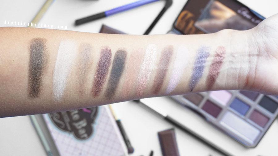 Paleta too faced chocolate bar swatch primera linea