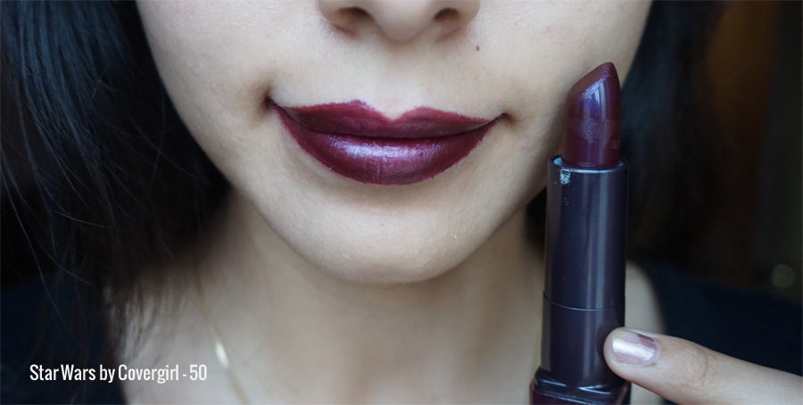 Colección Star wars covergirl lipstick 50 swatch