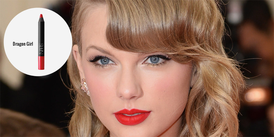 Labial rojo de taylor swift dragon girl