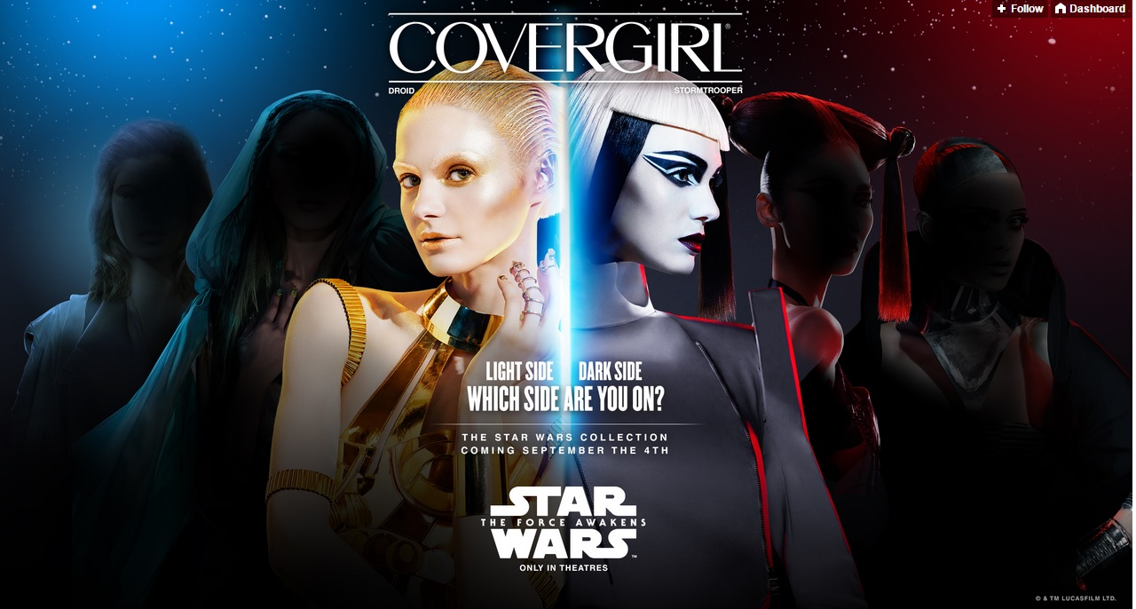 colección star wars covergirl maquillaje