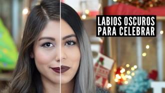 labios oscuros para navidad distrito belleza