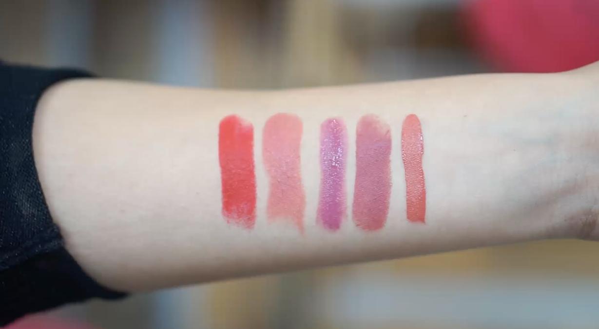 Favoritos de belleza 2015 swatches labiales