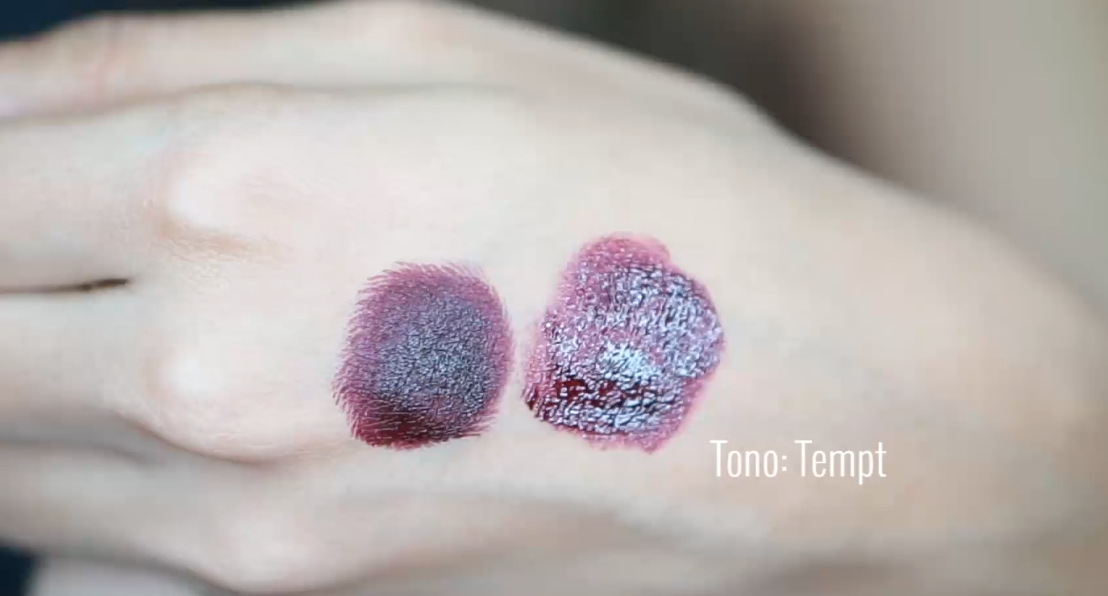Labial Ariana Grande MAC Dupe duplicado LA girl glazed lip paint tempted