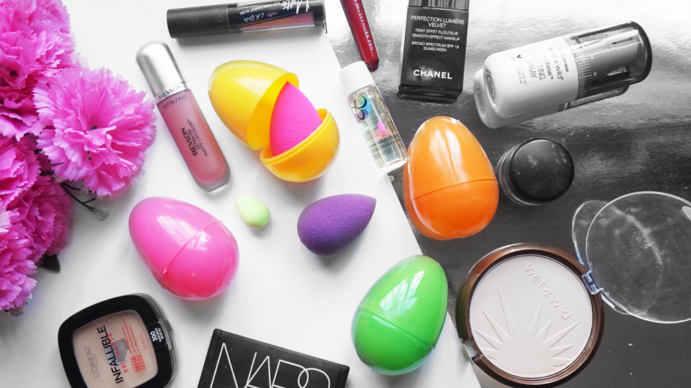 Viajar con esponjas beauty blender huevos de pascua