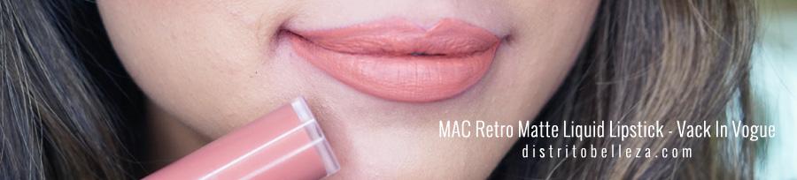 Labiales liquidos MAC Vack In Vogue