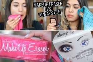 toallita Makeup Eraser vs Alway off distrito belleza