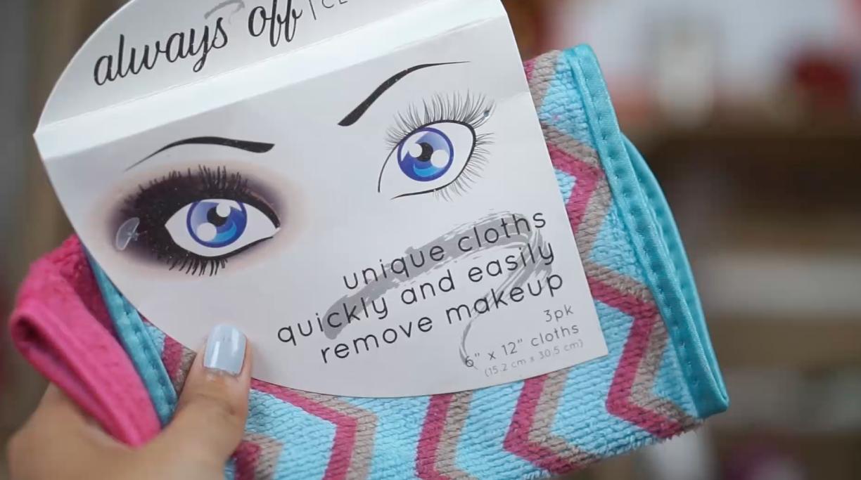 toallita Makeup Eraser vs Alway off toallitas