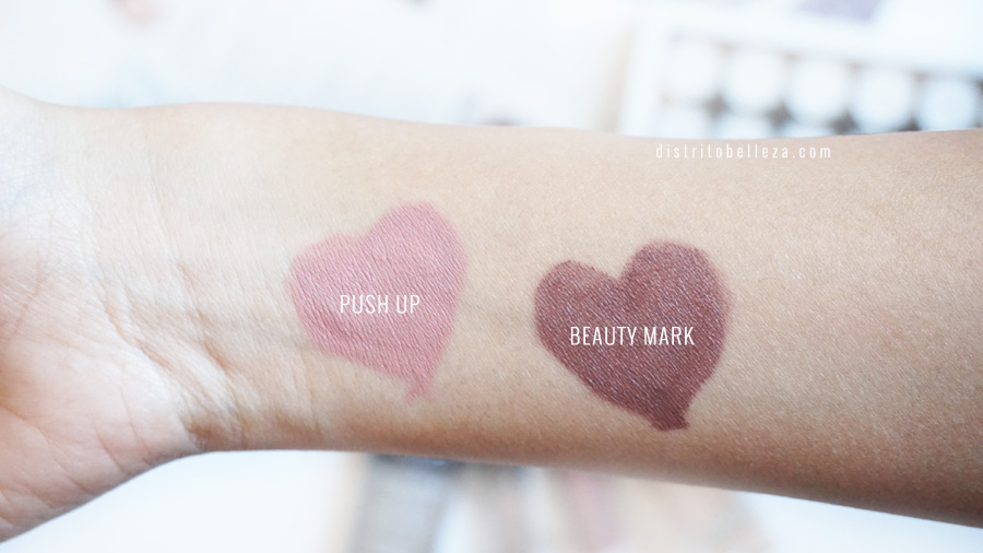 Labiales NYX Lingerie PUSH UP beauty mark swatches
