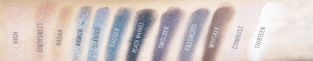 Paleta Naked Smoky Urban Decay SWATCHES