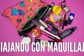 Viajar con maquillaje: Mi bolsita de viaje
