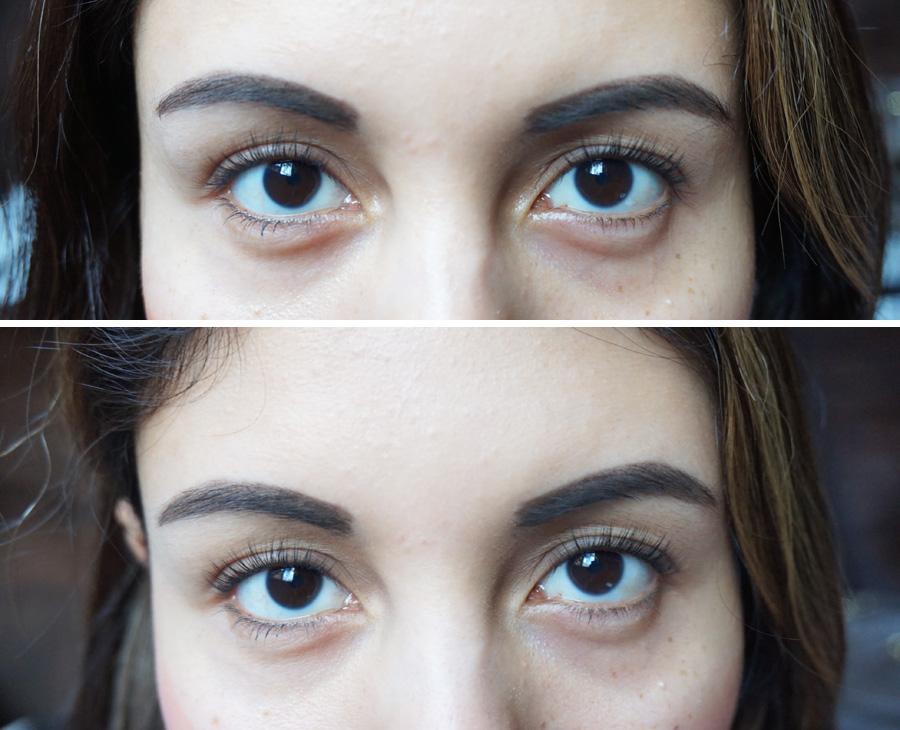 Mascarilla de ojos Sephora antes y después