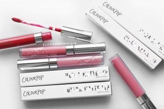 Labiales Colourpop mate vs satin fórmula distrito belleza