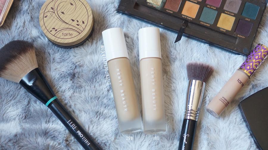 bases de maquillaje piel mixta Fenty Beauty 290 y 180