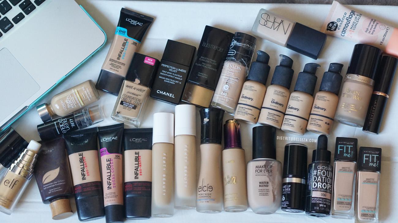 bases de maquillaje piel mixta colección distrito belleza