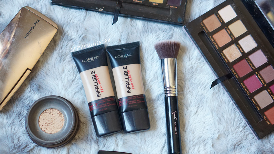 bases de maquillaje piel mixta loreal infallible pro matte 304 306