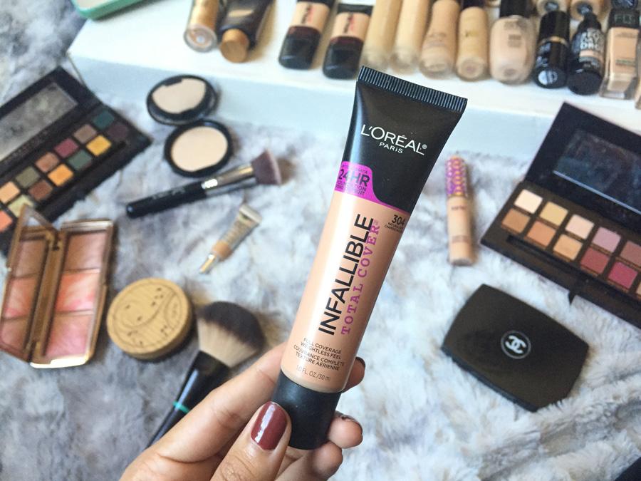 bases de maquillaje piel mixta loreal infallible total cover