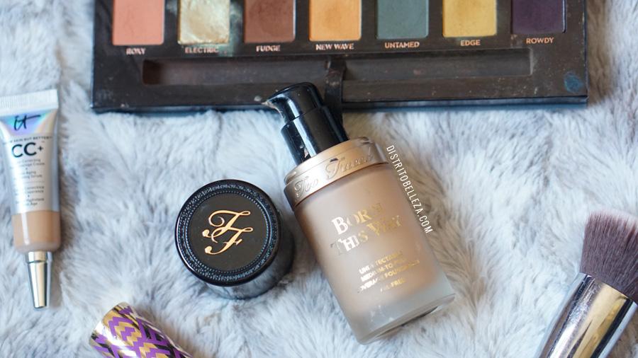 bases de maquillaje piel mixta too faced born this way warm natural