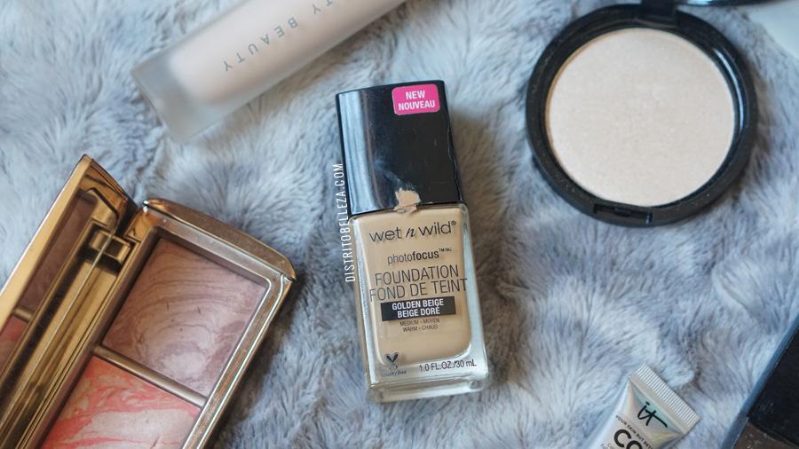 bases de maquillaje piel mixta wet n wild photofocus golden beige