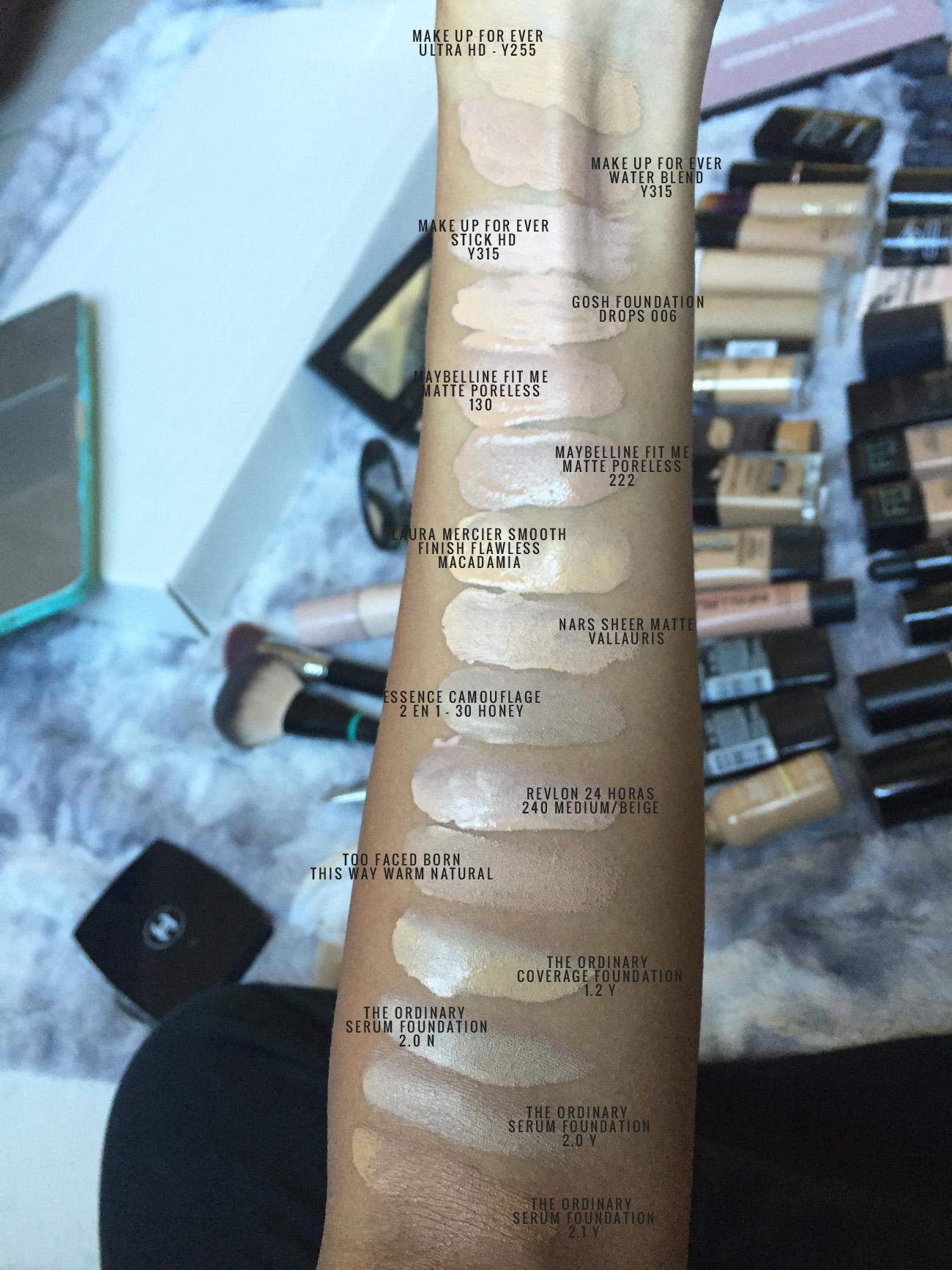 bases de maquillaje piel mixta x swatches 2
