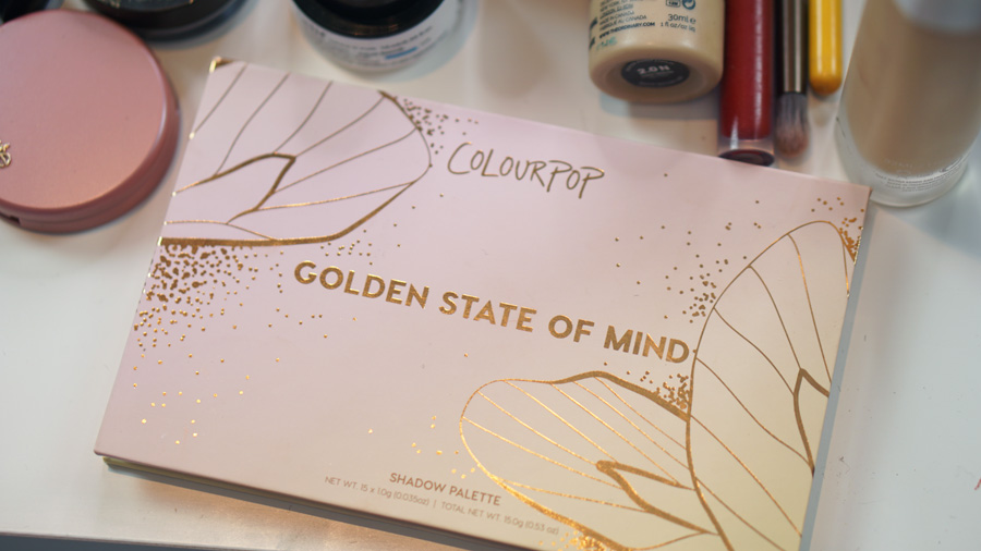 paleta colourpop golden state of mind distrito belleza empaque enfrente