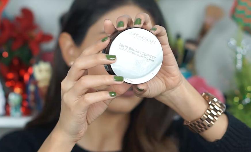 Maquillaje favorito del 2017 limpiador japonesque brochas goat